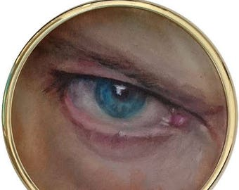 David Bowie Eye Oil Painting