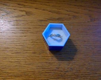 Sterling Silver DQ CZ Ring Enhancer GV