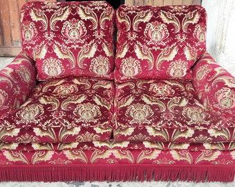 Sofa upholsterer neobaroque vintage ep 1960
