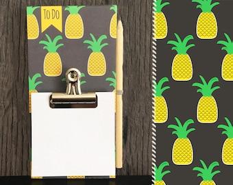 Notes memo Board / / pineapple / / wood clipboard
