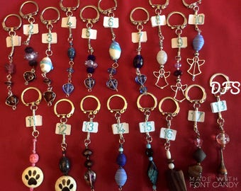 Handmade variety of keychains/purse charms