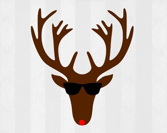 Cool Reindeer svg, Christmas svg, Christmas svg for boys, rudolph svg, Boy Christmas SVG, DXF, Christmas cut file, Christmas clipart