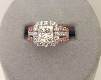 Custom Diamond Engagement Bridal Ring Set