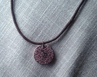 Flower Clay Necklace