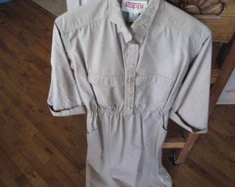 Kappi Traditional Military Shirtwaist Dress, Size 8