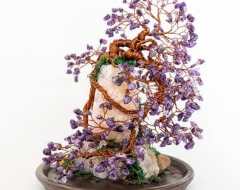 Crystal Bonsai Tree - Mount Amethyst