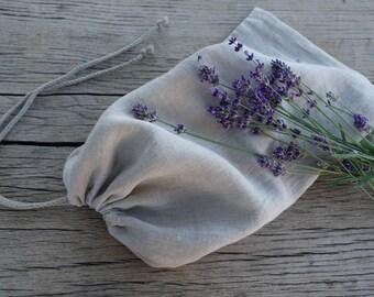 Linen bread bag, linen bread bag with lace, bread bags, herbal linen bag, natural linen bag, linen bags