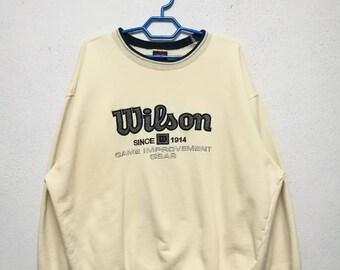 Vintage Wilson Big Logo Sweater Sweatshirt