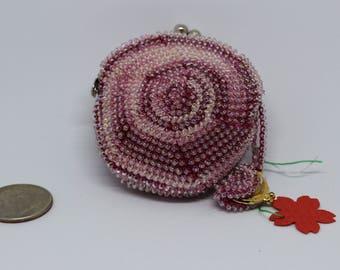 Handmade Seed Bead Coin Purse