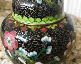 Antique Chinese Cloisonné and enamel Jar