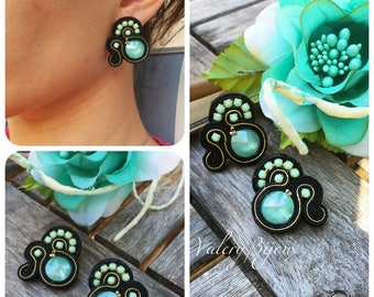 Earrings swarovski peridot