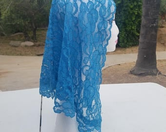 light blue mantilla