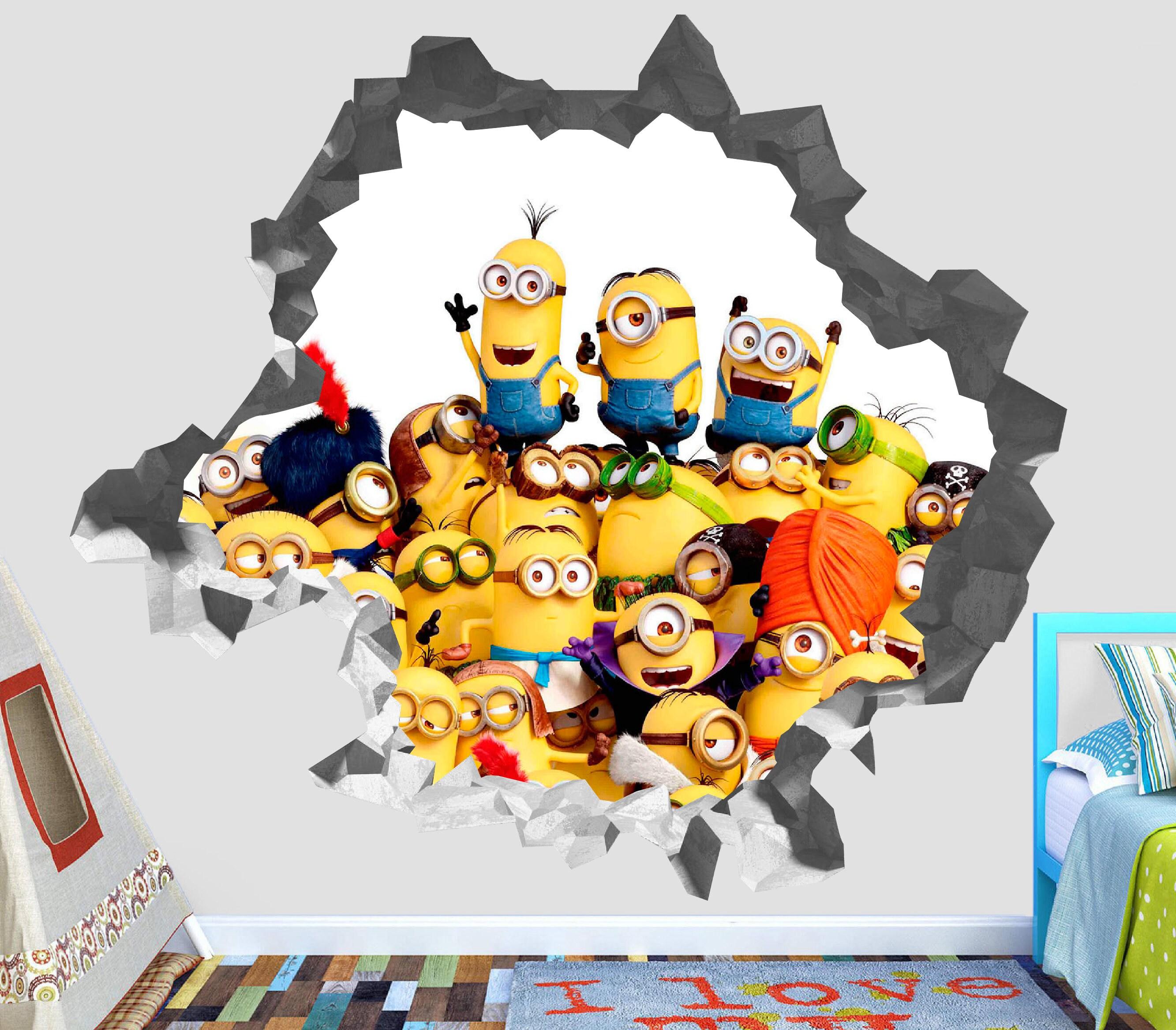 Miniones Despicable Me Wall Decal 3D Kids Sticker Art Decor Vinyl ...