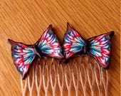 Butterfly Hair Comb Butterfly Comb Polymer Clay Hair Comb Handmade Hair Comb Wedding Hair comb