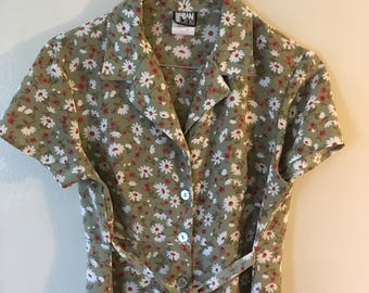 Vintage 90's Floral Mini Dress