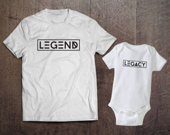 Legend & Legacy - Father and Child (Listing for Father and Child's shirts)