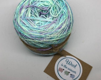 Hand Dyed 4 ply Superwash Merino Spring Lilacs