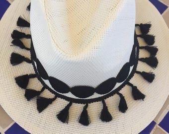 Straw hat boho style