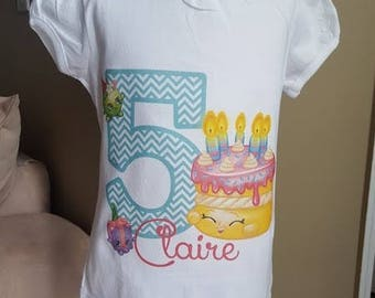 Shopkins birthday Shirt!! Any age and name!