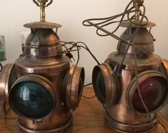 Vintage Railroad Latern Lamps