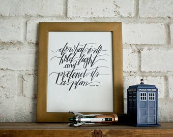 Doctor Who Quote // 11th Doctor // Hand-lettered Digital Print // Printable