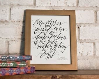 Happiness Can Be Found // Harry Potter Quote //  Hand-lettered Digital Print // Printable
