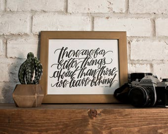There Are Far Better Things // CS Lewis // Hand-lettered Digital Print // Printable