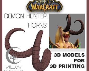 Demon hunter horns 3D model for 3D printing