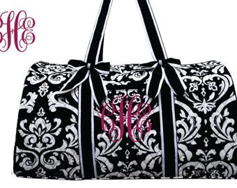 Large Quilted Duffle Bag with Free Embroidery