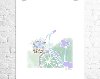 Poster bike in the fields