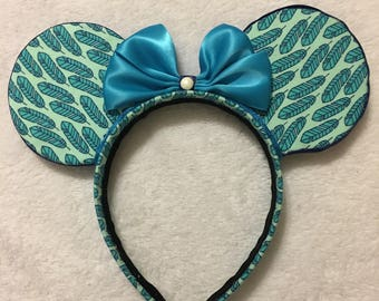 Feather pattern Mickey Ears