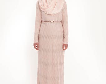 Elanora dress- metallic pink