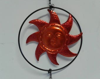 Orange Sun Windchime