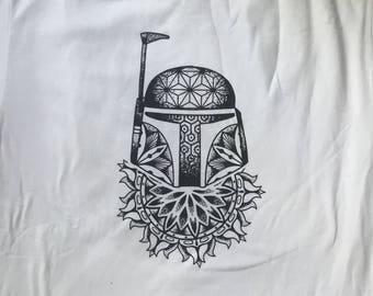 XL Star Wars Boba Fett Mandala T-shirt