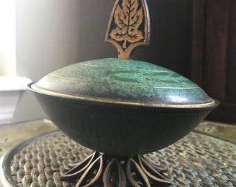 Vintage Brass Decorative Dish Made In Israel