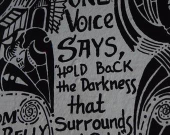 Hold Back Darkness Art Print