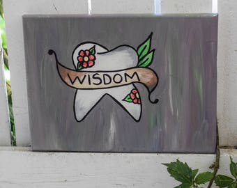 Wisdom tooth banner 12x9 Canvas *Custom*