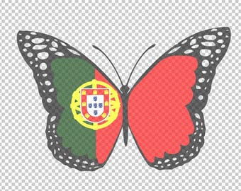 Portuguese Butterfly SVG