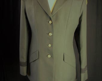 green army military style vintage jacket (14MT) , costume, Marlow White, cosplay, uniform, halloween, retro,