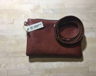 Red Leather Hand-purse