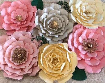 Set of 6 large flowers