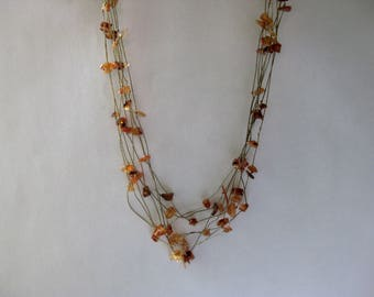 floating amber choker