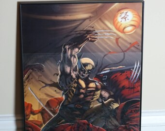 Wolverine VS Ninja art print