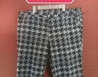 Vintage Large Fullprint Pant Ladies Pant Black Colour Size 4L Designer Comme des Garcon Issey Miyake Pants