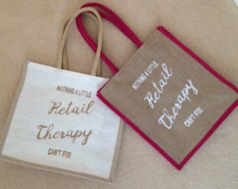 Retail Therapy Jute bag