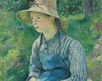 Peasant girl with a straw hat, 1881 Camille Pissaro.