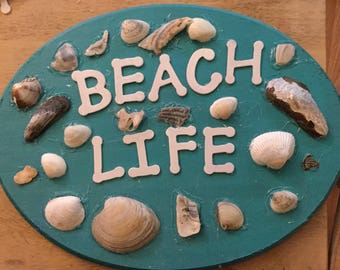 Beach Life Wooden Sign