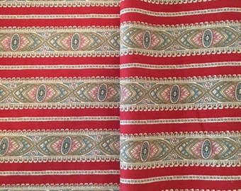 Civil War Reproduction Fabric 1840-1850, stripe with print, Victorian Era Fabric, Judie Rothermel Collection, Marcus Brothers
