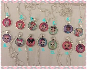 LOL Surprise Doll necklaces