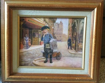 Paper Boy (Victorian) framed